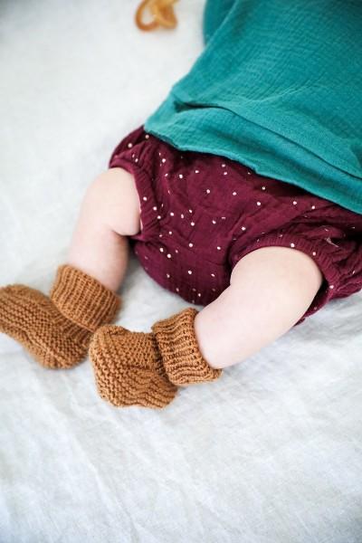 Les chaussons à tricoter soi-même